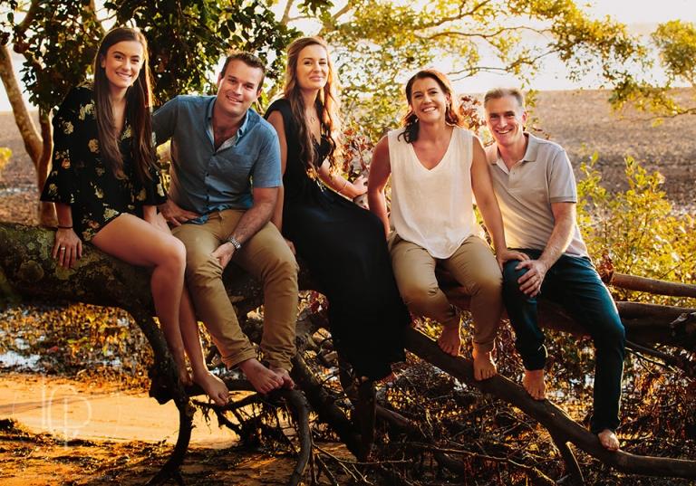 Sunset Family Portrait Brisbane
