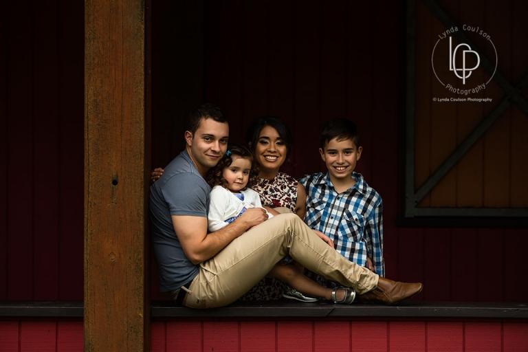 Family Portrait in a Barn