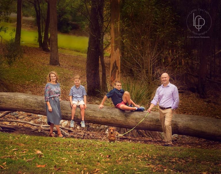 Family Portrait on Mt Cootha Brisbane